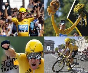 Bradley Wiggins champion of the Tour de France 2012 puzzle