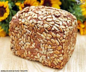 Bread of sunflower seeds puzzle