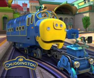 Brewster, strong diesel-electric locomotive from Chuggington puzzle