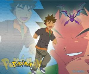 Brock, originally the leader of the Pewter City Gym (Pewter), specializing in rock-type Pokémon. puzzle