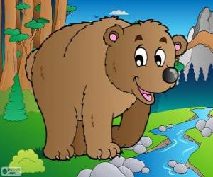 Brown bear. Grizzly bear puzzle