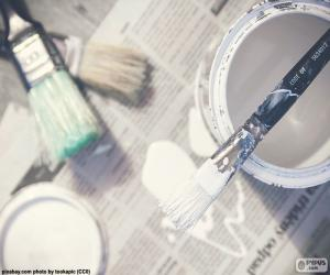Brushes and painting puzzle