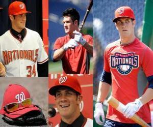 Bryce Harper baseball player Washington Nationals  puzzle