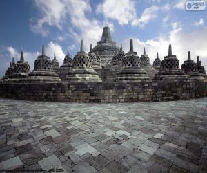 Buddhist temple of Borobudur, Indonesia puzzle