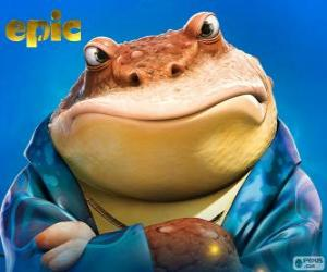 Bufo, a frog who is a business man in the secret world puzzle