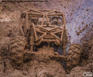 Buggy 4 x 4 in the mud puzzle