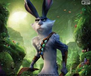 Bunny, Easter rabbit. Character from Rise of the Guardians puzzle