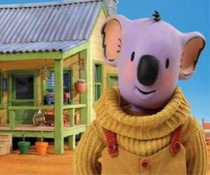 Buster is one of the koala brothers living  fun adventures in the Australian desert, The  Koala Brothers puzzle