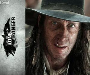 Butch Cavendish (William Fitchner) in the film The Lone Ranger puzzle