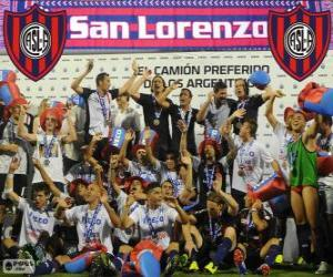 CA San Lorenzo de Almagro, champion of the Torneo Inicial 2013, Argentina puzzle