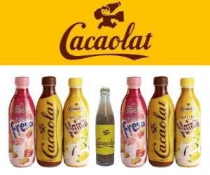 Cacaolat is a brand of milkshake and cocoa, but there are also vanilla and strawberry shakes. puzzle
