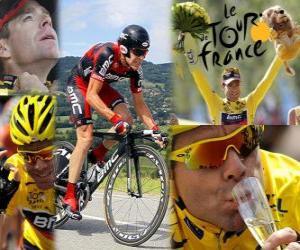 Cadel Evans 2011 Tour de France Champion puzzle