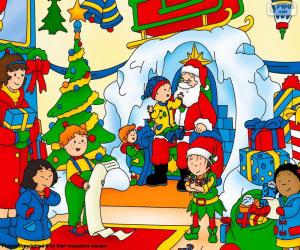Caillou Christmas puzzle
