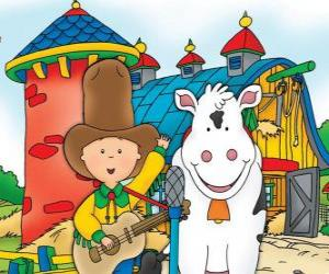 Caillou on the farm puzzle