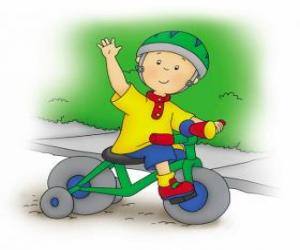 Caillou, riding a bicycle puzzle