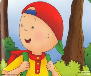 Caillou smiling puzzle