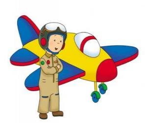 Caillou the airman puzzle
