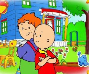 Caillou with his friend Leo puzzle