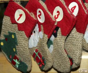 Calendar socks puzzle