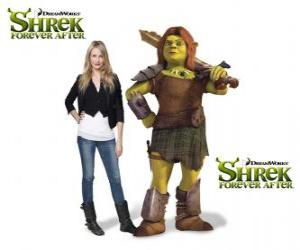 Cameron Diaz provides the voice of Fiona, the warrior, in the latest film Shrek Forever After puzzle