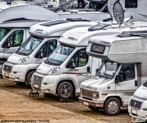 Campervans or motorhomes puzzle
