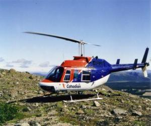 Canadian Bell 206 helicopter puzzle