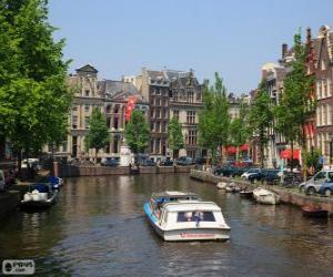 Canals of Amsterdam, Netherlands puzzle