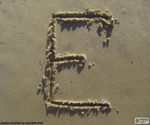 Capital letter E puzzle
