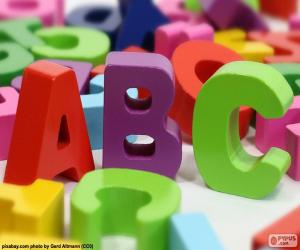 Capital letters A, B and C puzzle