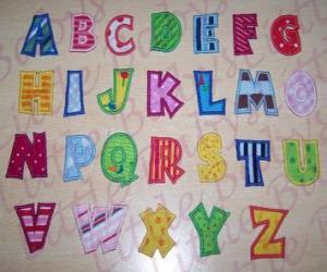 Capital letters, alphabet puzzle