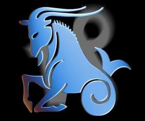 Capricorn. The goat-fish. Tenth sign of the zodiac. The Latin name is Capricornus puzzle