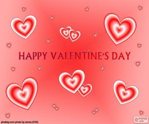 Card Happy Valentine's Day puzzle