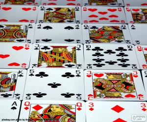 Cards of poker puzzle
