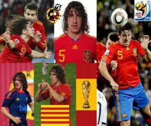 Carles Puyol (The head of Spain) Spanish team defense puzzle
