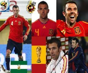 Carlos Marchena (The invincible) Spanish team defense puzzle