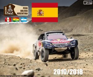 Carlos Sainz Dakar 2018 puzzle