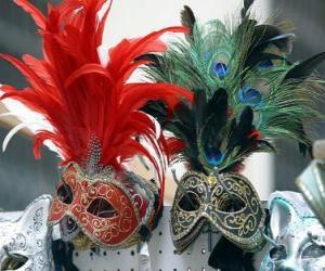 Carnival masks puzzle