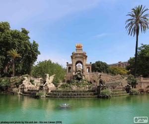 Cascade of the Parc de la Ciutadella, Barcelona puzzle