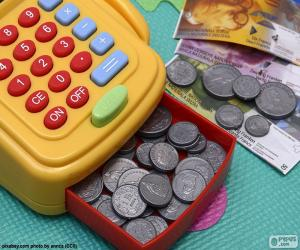 Cash register toy puzzle