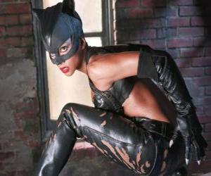 Catwoman, una ladra di gioielli e rivale di Batman per il quale si sente una forte attrazione romantico puzzle
