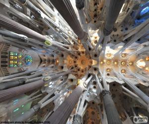 Ceiling, Sagrada Familia, Barcelona puzzle