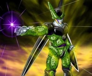 Cell, the ultimate creation of Doctor Gero. An artificial life form created using cells from Goku and other characters puzzle