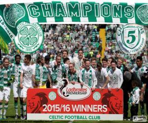 Celtic FC champion 2015-2016 puzzle