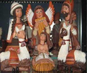 Ceramic figures of Peru puzzle