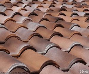 Ceramic roof tiles puzzle