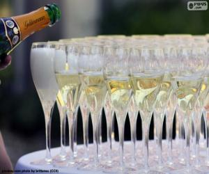 Champagne cups puzzle