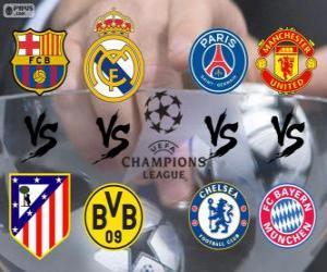 Champions League - UEFA Champions League 2013-14 Quarter-finals puzzle