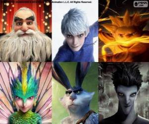 Characters from Rise of the Guardians puzzle