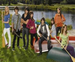 Characters in Camp Rock Tess, Nate, Shane, Mitchie, Jason, Ella, Peggy and Caitlyn puzzle