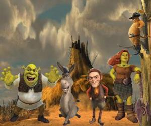 Characters, in the latest film Shrek Forever After puzzle